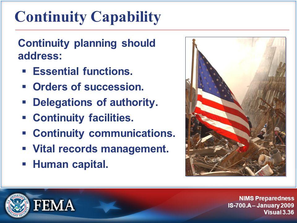 Continuity Capability