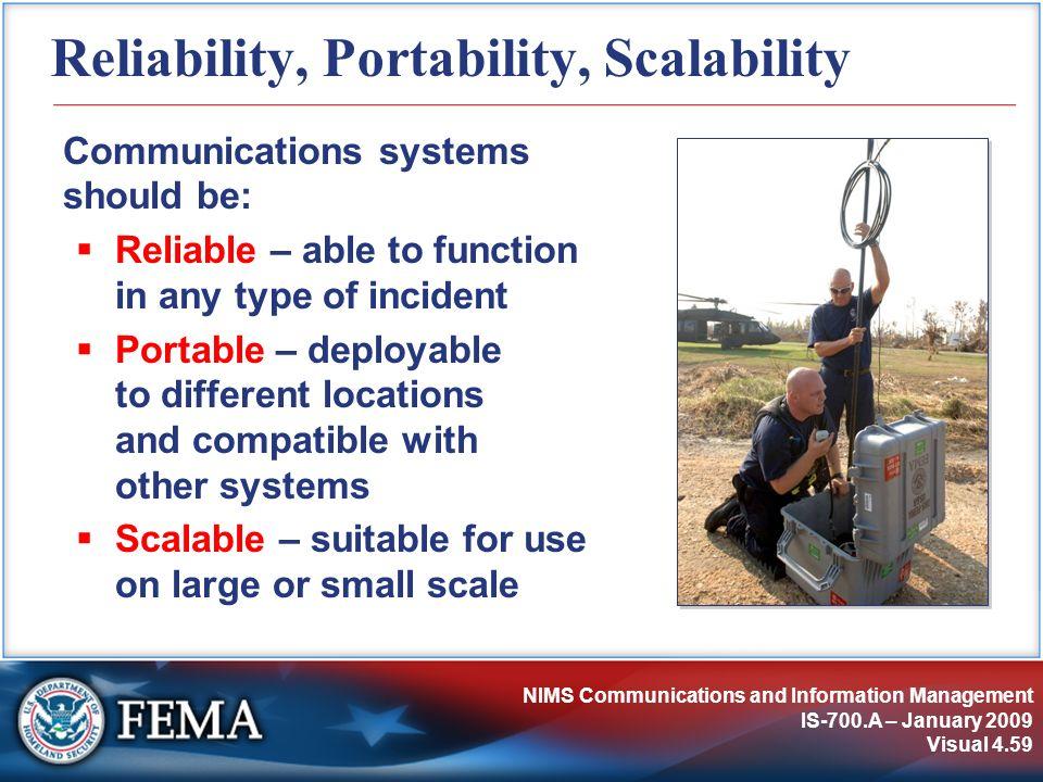 Reliability, Portability, Scalability