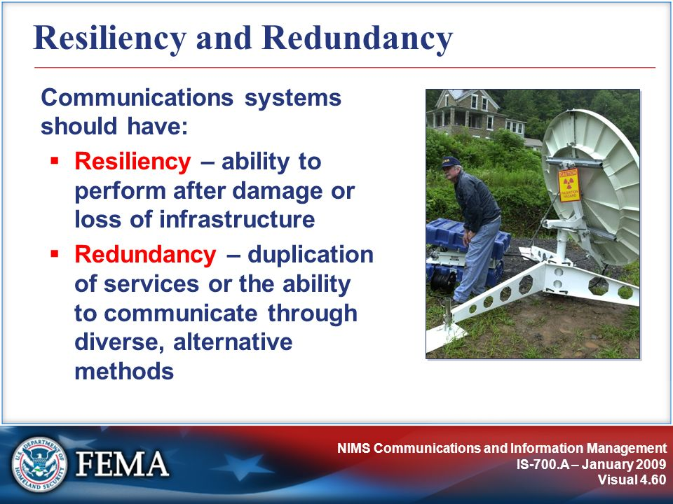 Resiliency and Redundancy