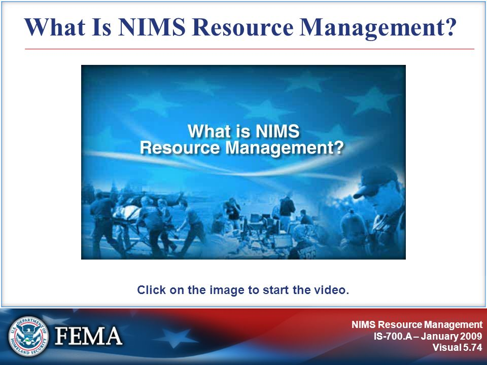 What Is NIMS Resource Management