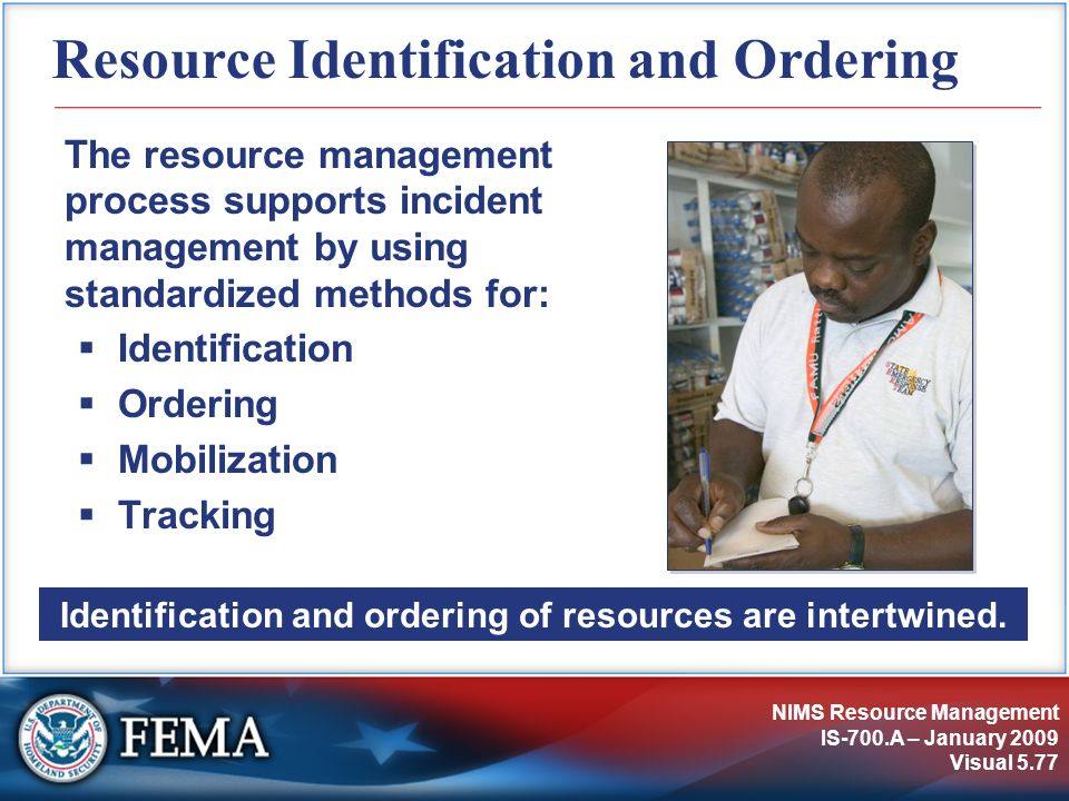 Resource Identification and Ordering