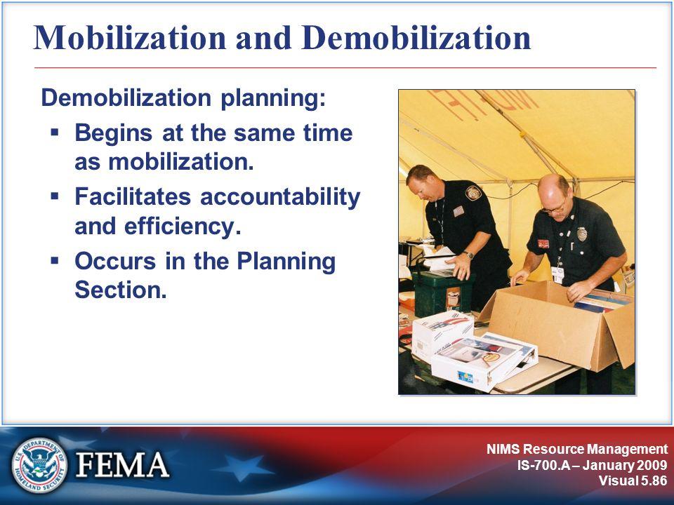 Mobilization and Demobilization