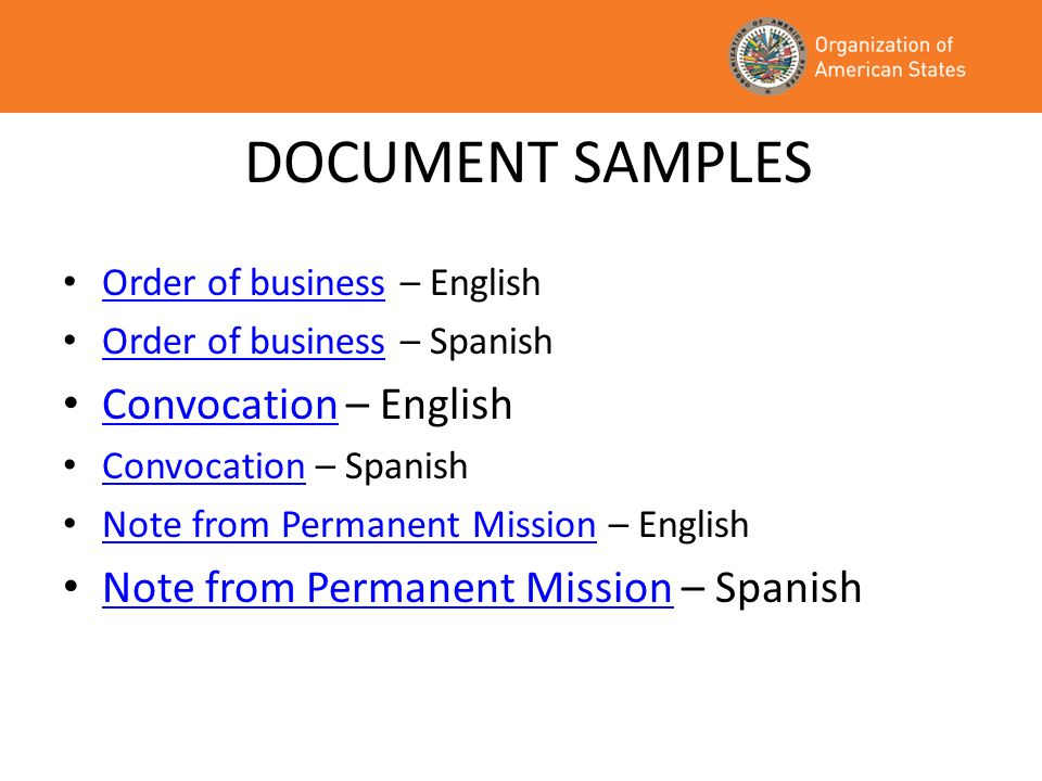 DOCUMENT SAMPLES Convocation – English