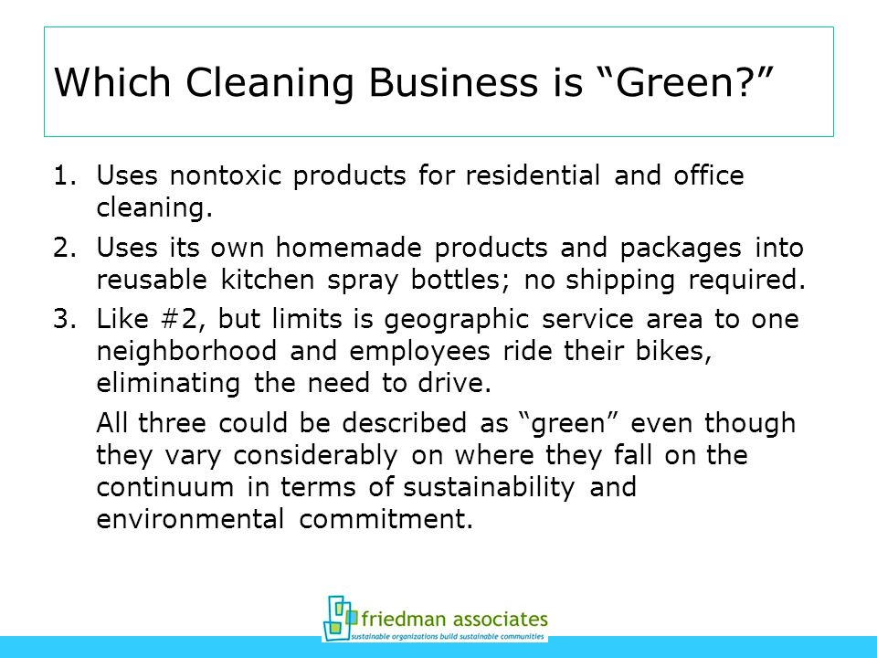 Which Cleaning Business is Green