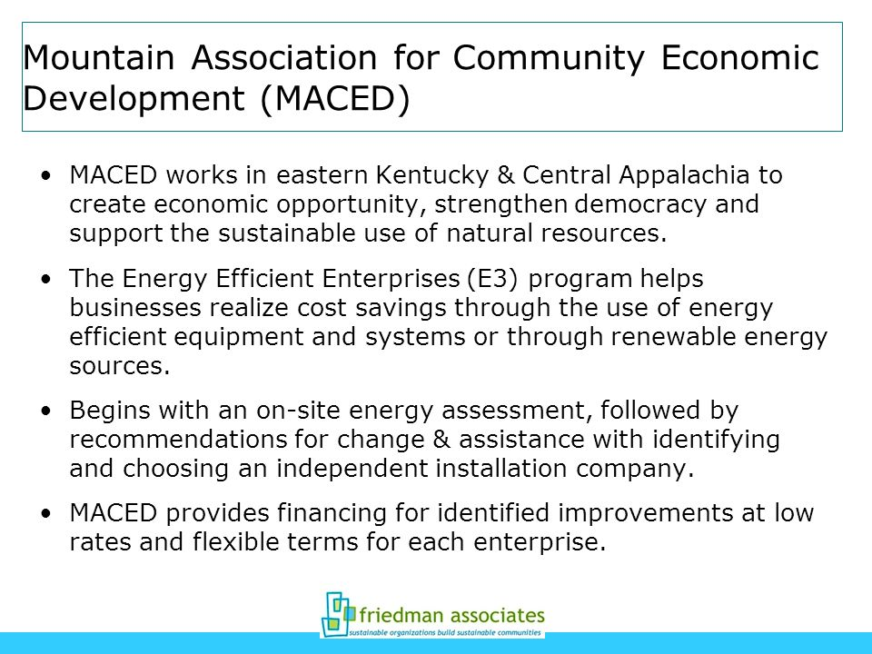 Mountain Association for Community Economic Development (MACED)