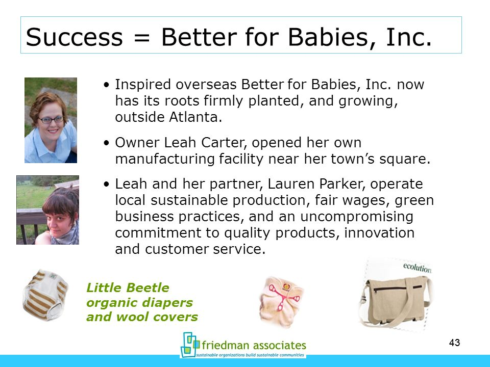 Success = Better for Babies, Inc.