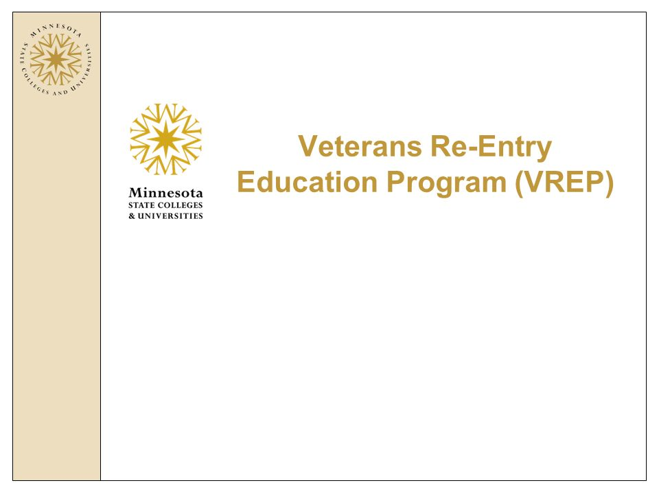 Veterans Re-Entry Education Program (VREP)