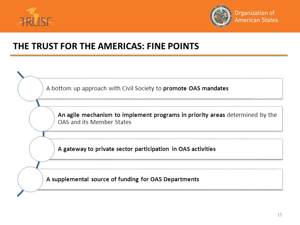 THE TRUST FOR THE AMERICAS: FINE POINTS