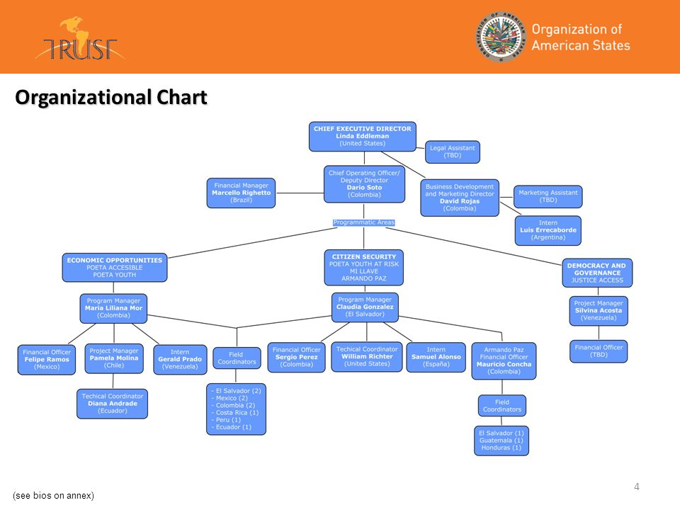 Organizational Chart (see bios on annex)
