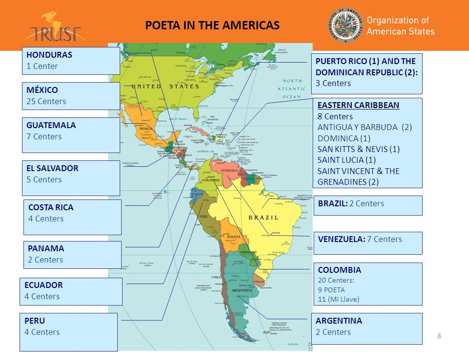 POETA IN THE AMERICAS GUATEMALA 7 Centers MÉXICO 17 Center