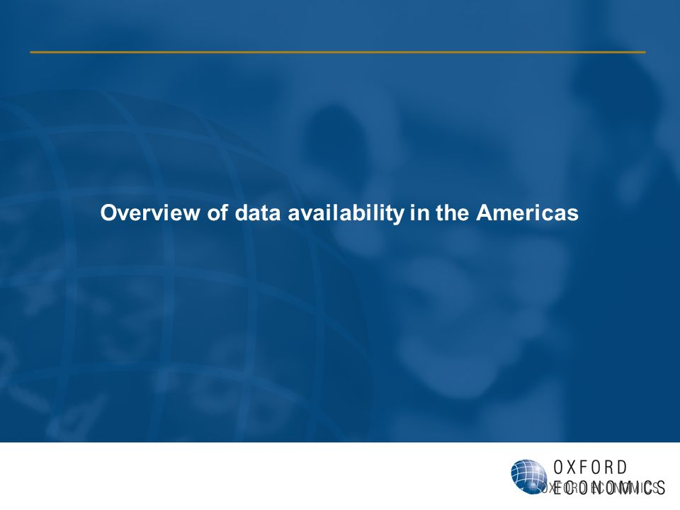Overview of data availability in the Americas