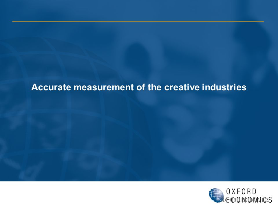Accurate measurement of the creative industries