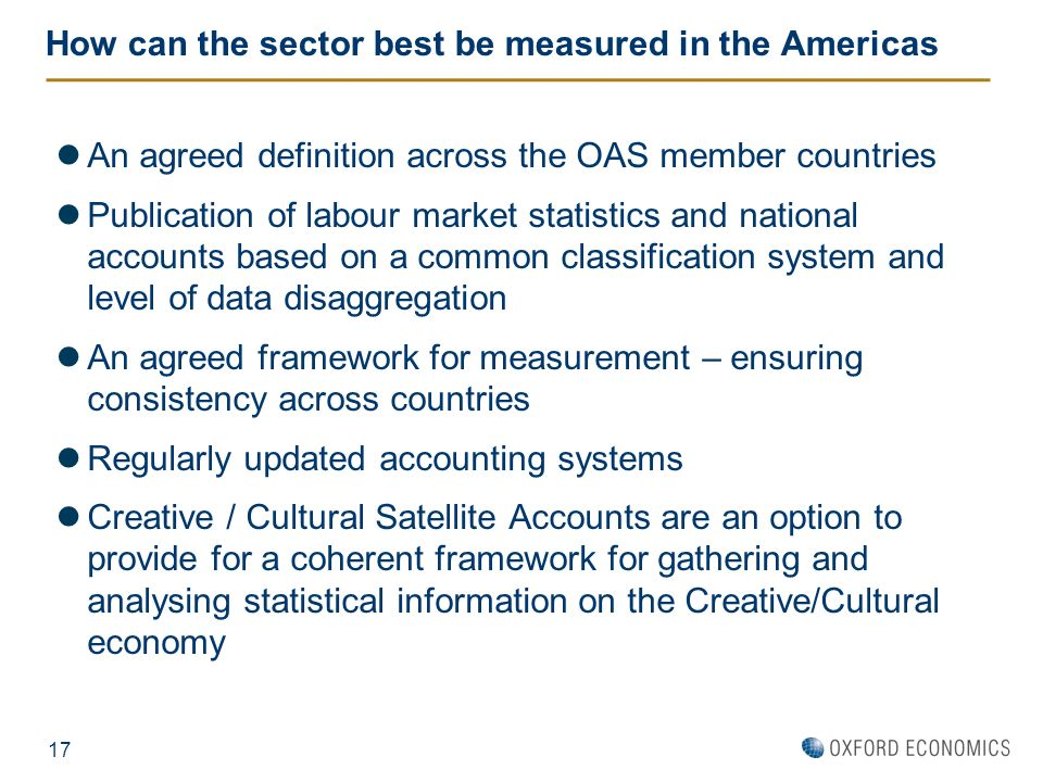 How can the sector best be measured in the Americas