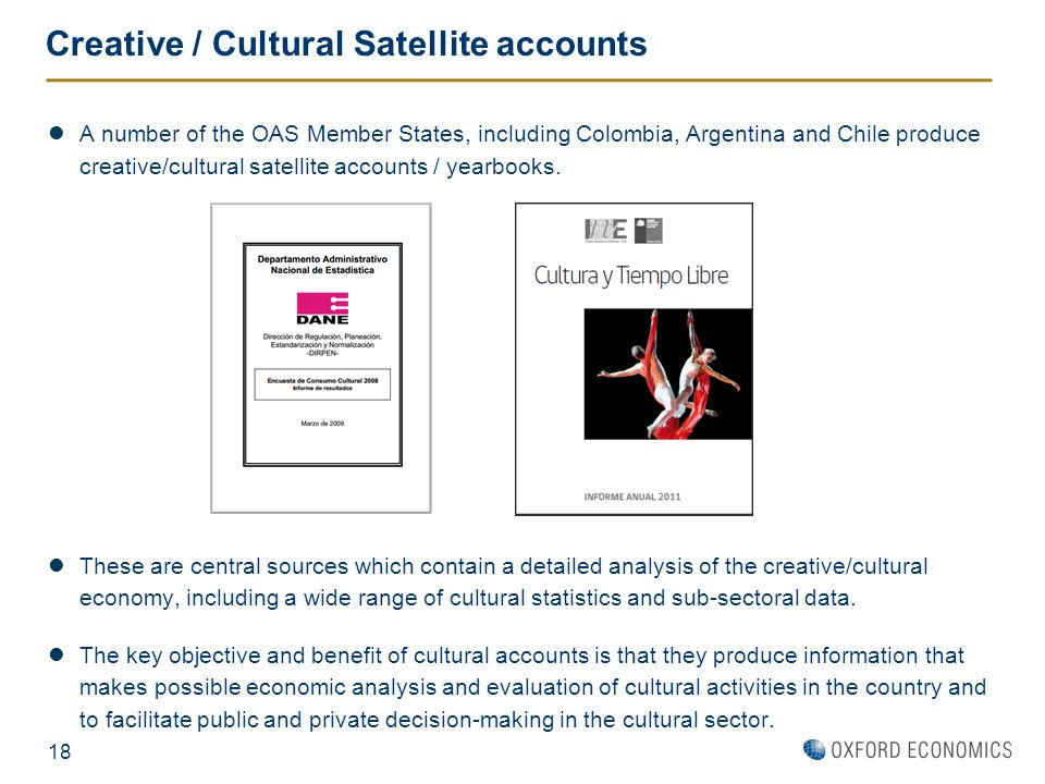 Creative / Cultural Satellite accounts