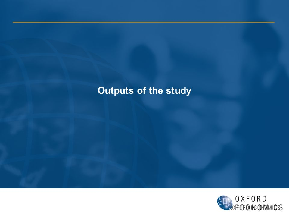 Outputs of the study