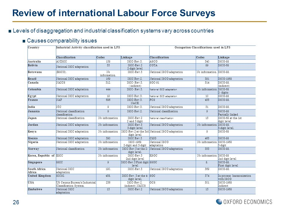 Review of international Labour Force Surveys