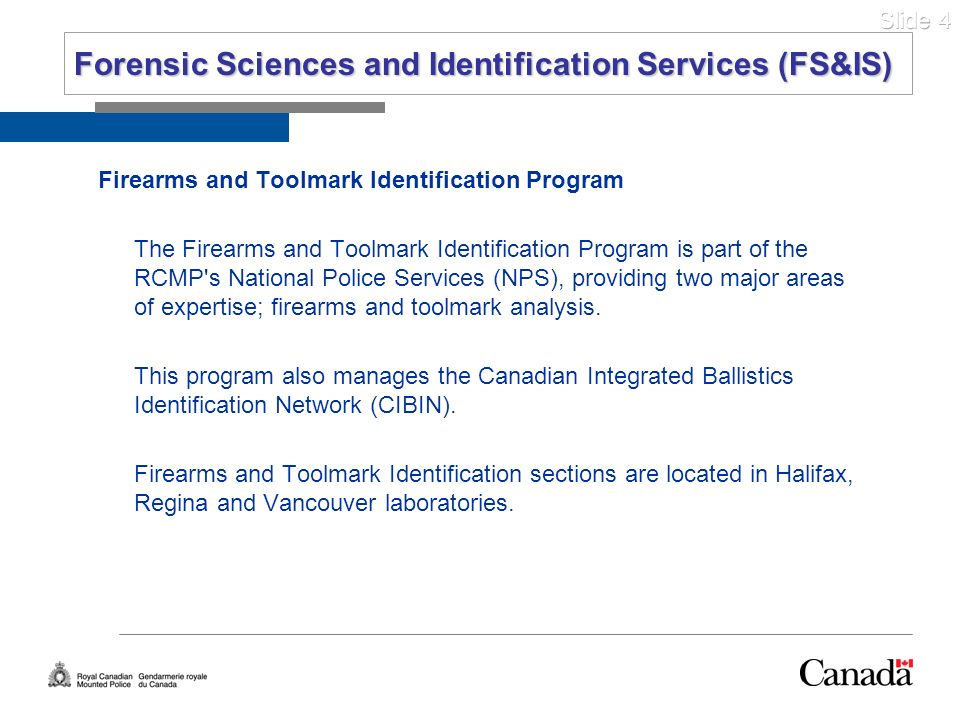Forensic Sciences and Identification Services (FS&IS)