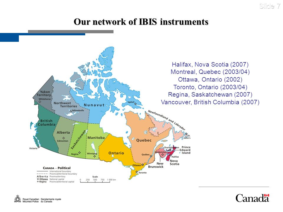 Our network of IBIS instruments