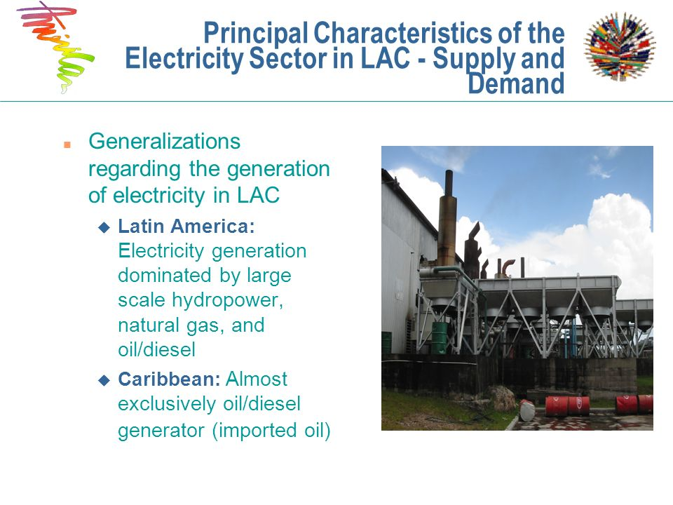 Principal Characteristics of the Electricity Sector in LAC - Supply and Demand