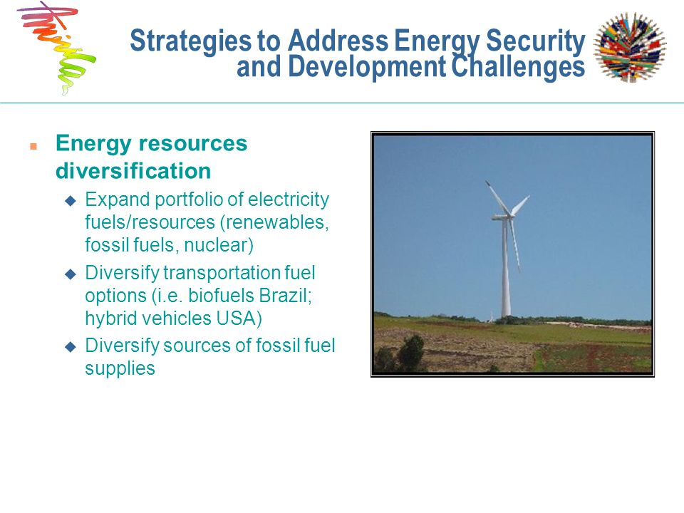 Strategies to Address Energy Security and Development Challenges