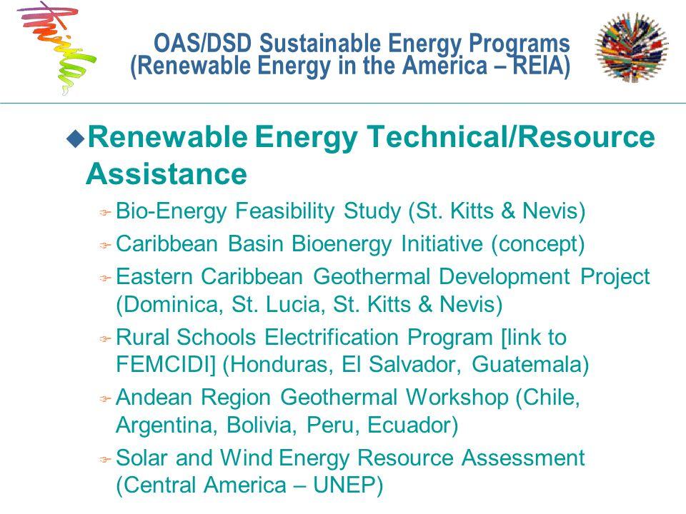 Renewable Energy Technical/Resource Assistance