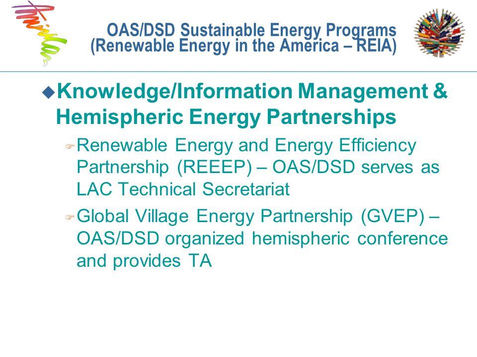 Knowledge/Information Management & Hemispheric Energy Partnerships