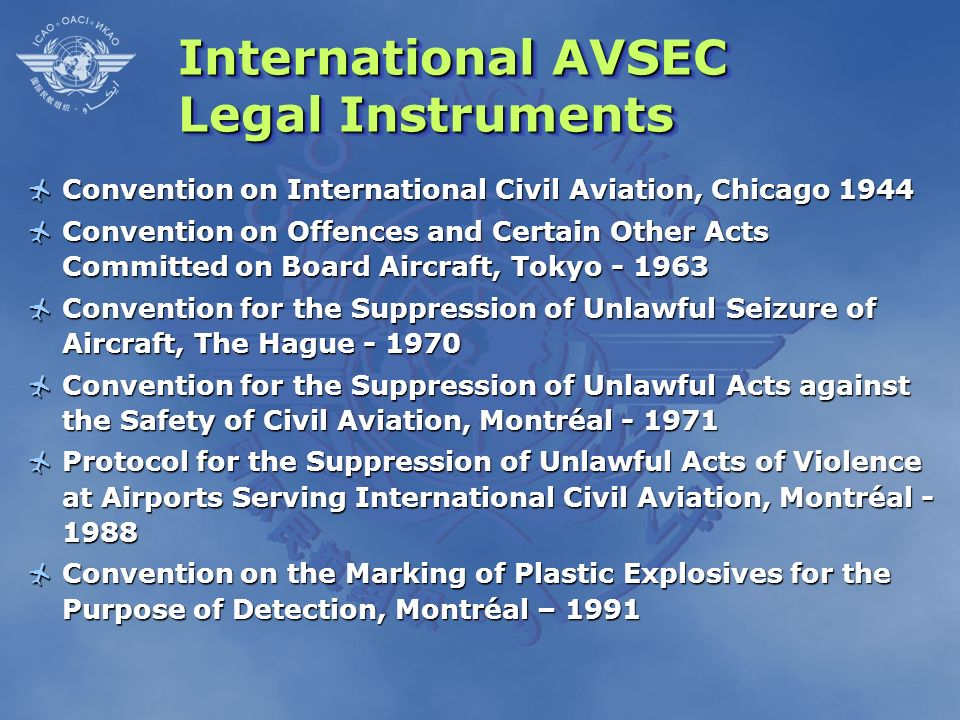 International AVSEC Legal Instruments