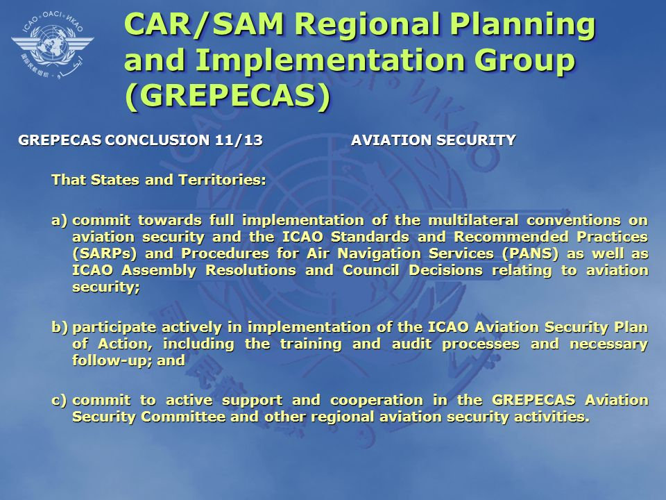 CAR/SAM Regional Planning and Implementation Group (GREPECAS)