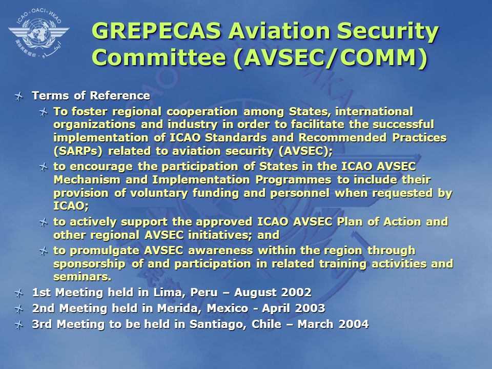 GREPECAS Aviation Security Committee (AVSEC/COMM)
