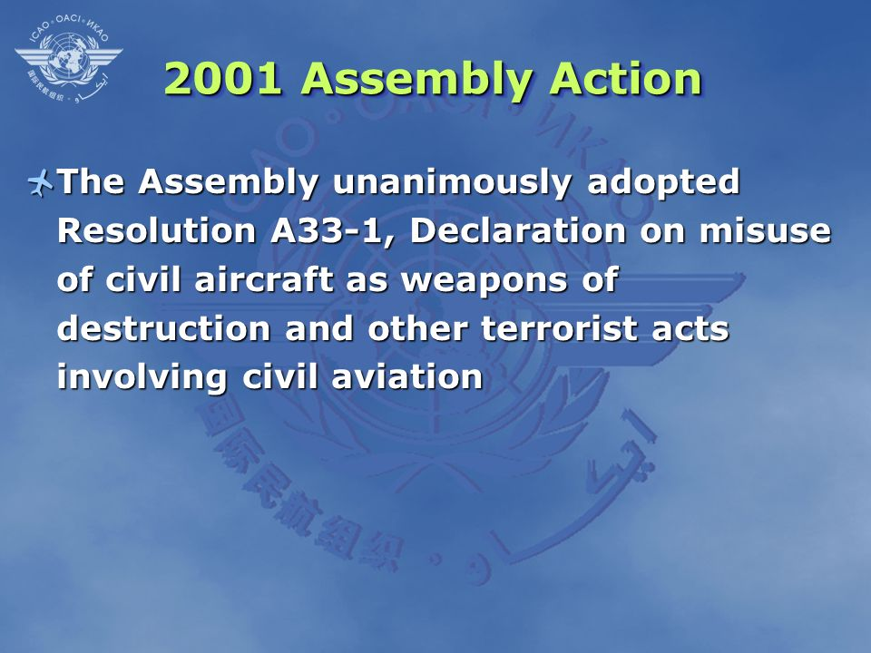 2001 Assembly Action
