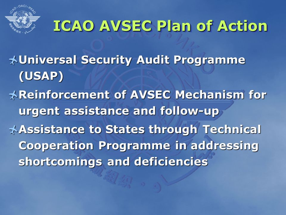 ICAO AVSEC Plan of Action