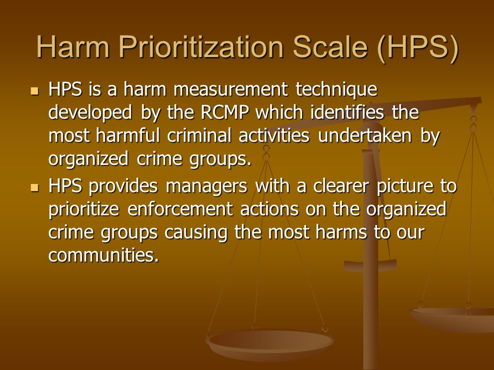 Harm Prioritization Scale (HPS)