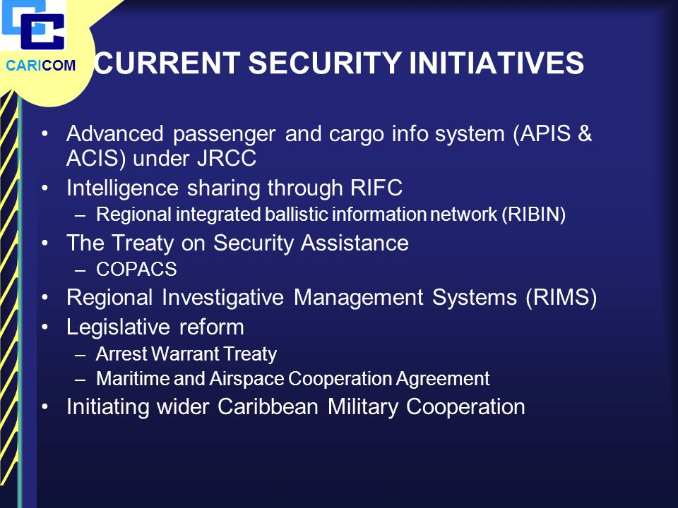 CURRENT SECURITY INITIATIVES
