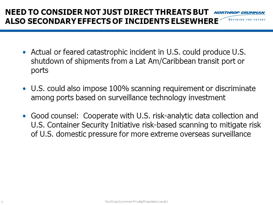 NEED TO CONSIDER NOT JUST DIRECT THREATS BUT ALSO SECONDARY EFFECTS OF INCIDENTS ELSEWHERE