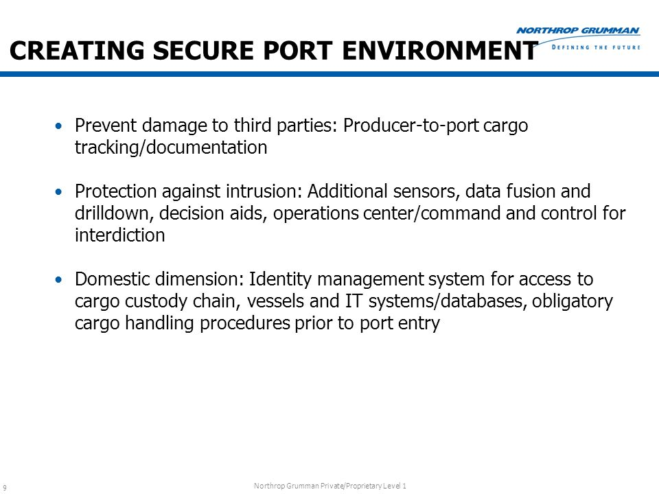 CREATING SECURE PORT ENVIRONMENT