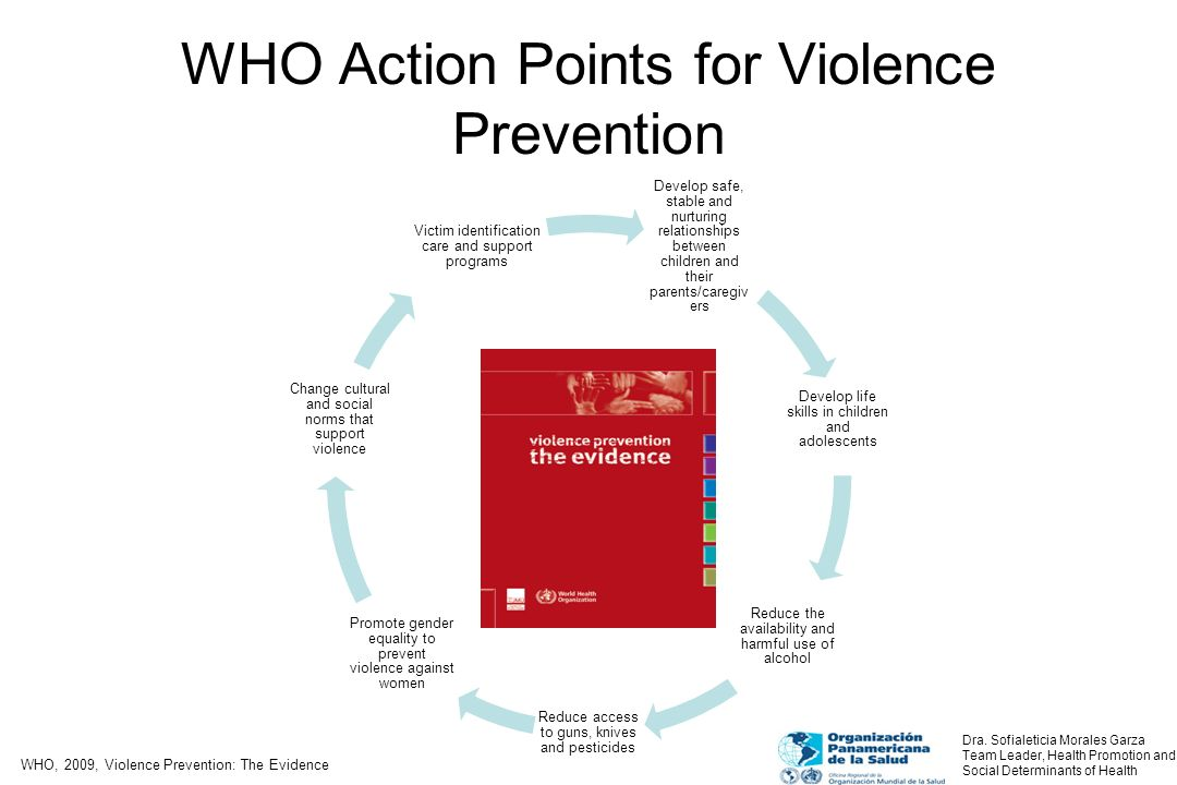 WHO Action Points for Violence Prevention