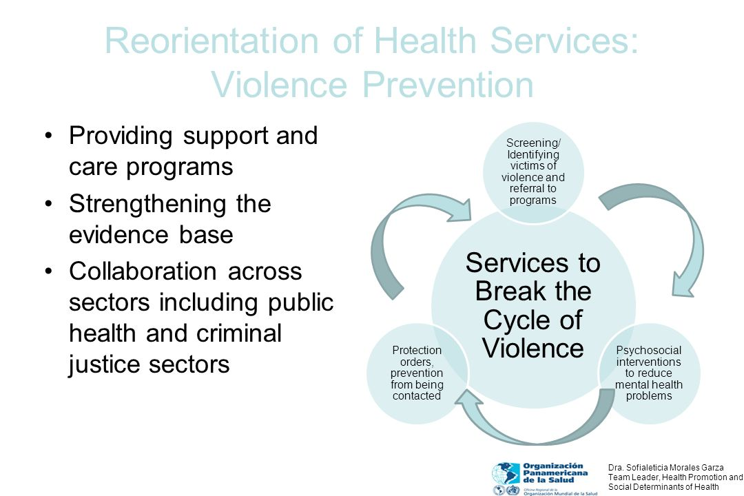Reorientation of Health Services: Violence Prevention