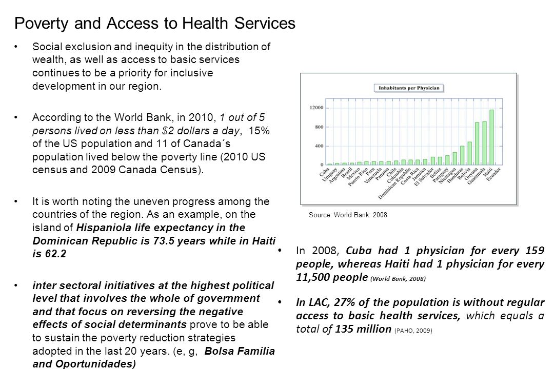 Poverty and Access to Health Services