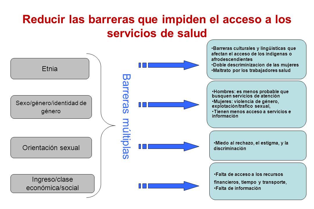 Reducir las barreras que impiden el acceso a los servicios de salud