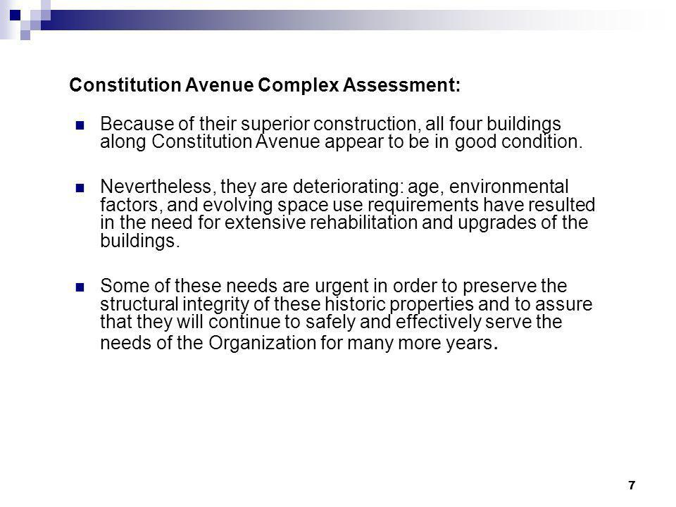 Constitution Avenue Complex Assessment: