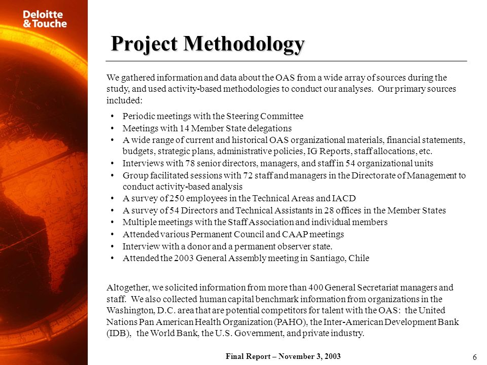 Final Report – November 3, 2003
