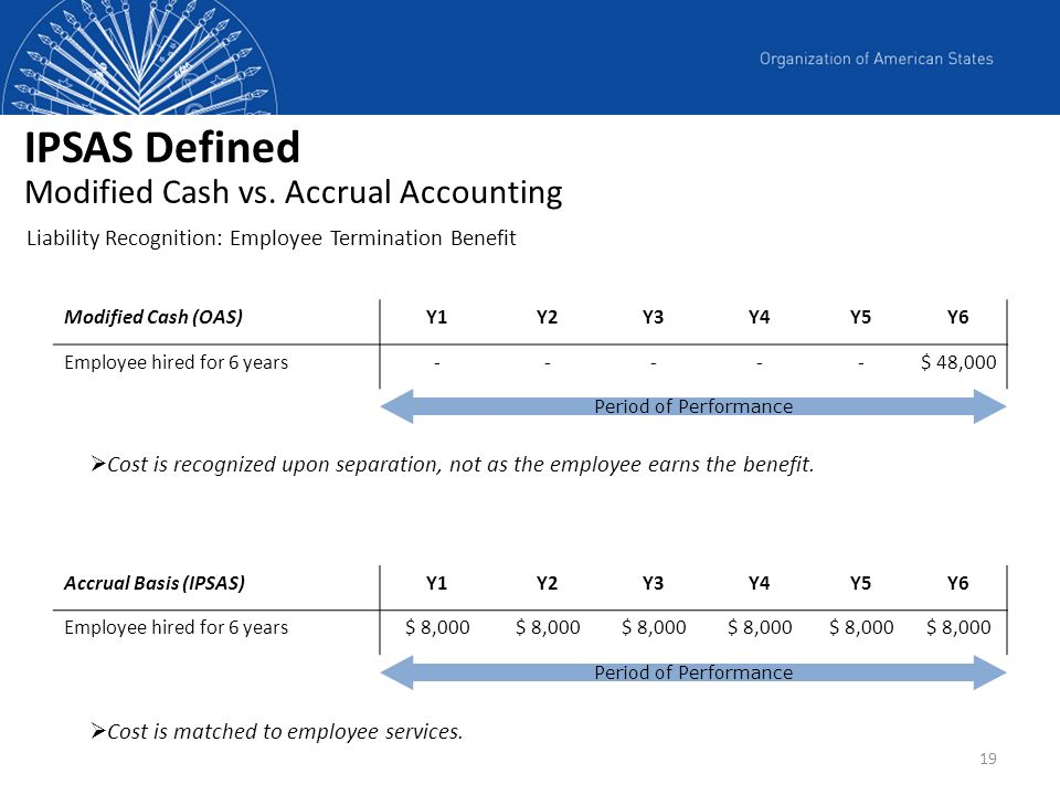 IPSAS Defined Modified Cash vs. Accrual Accounting