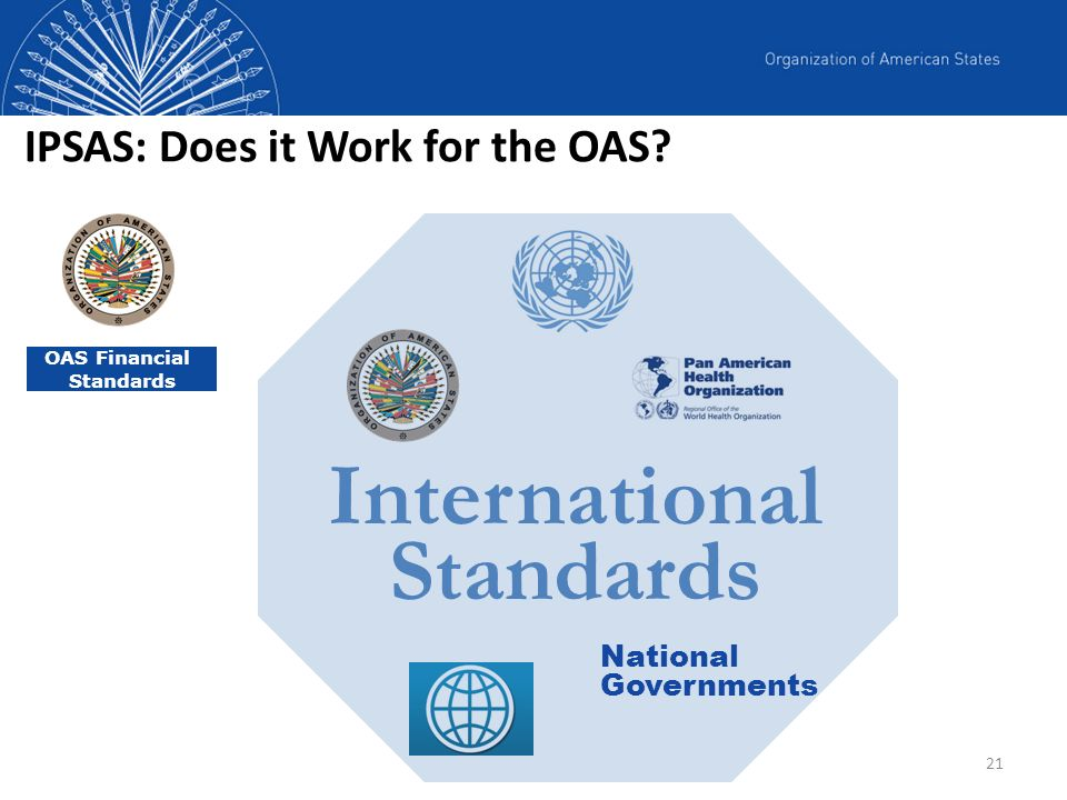 IPSAS: Does it Work for the OAS