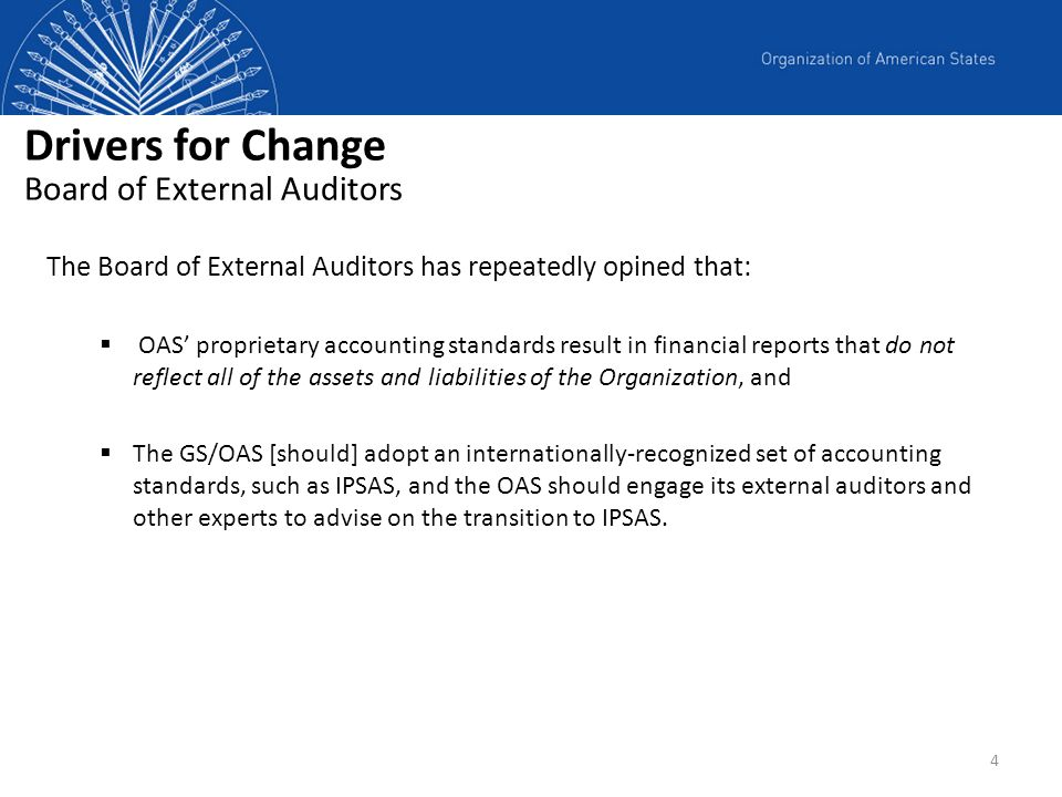 Drivers for Change Board of External Auditors
