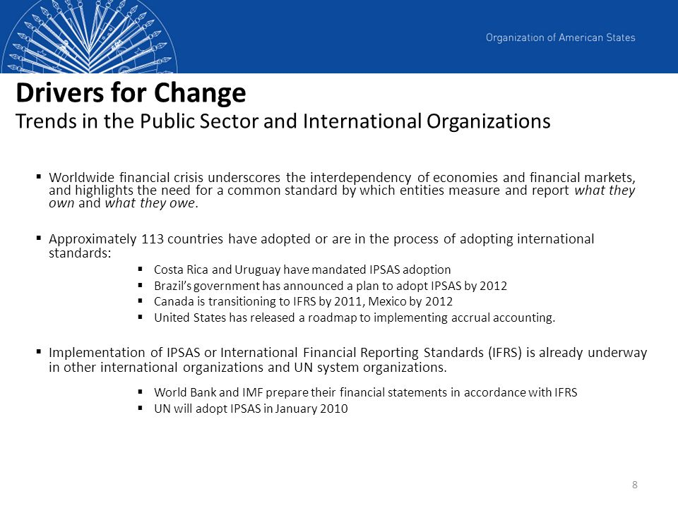 Drivers for Change Trends in the Public Sector and International Organizations