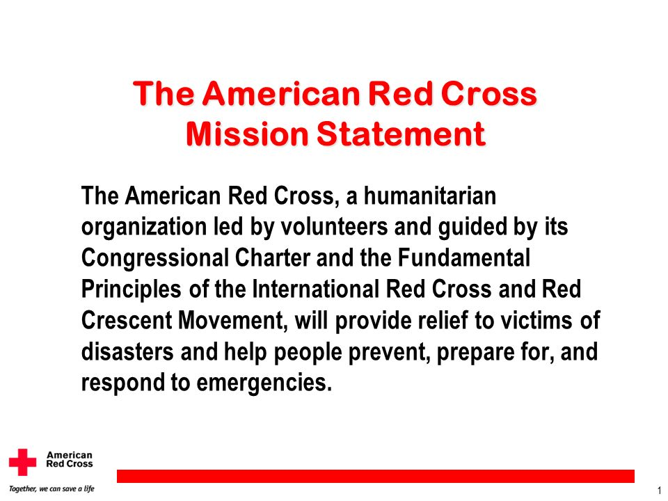 The American Red Cross Mission Statement