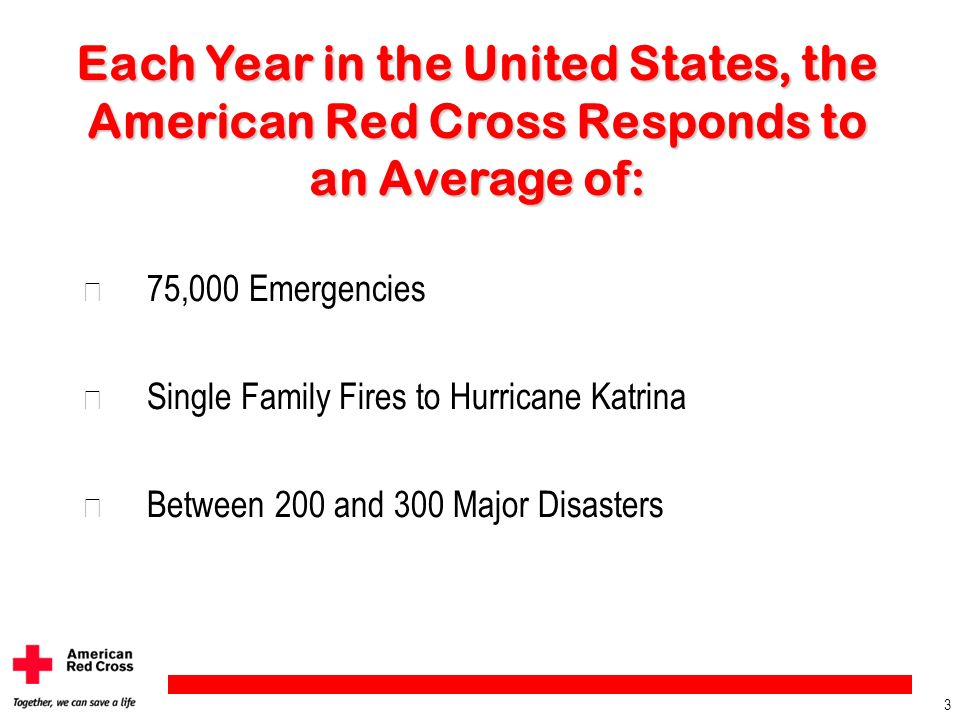 Each Year in the United States, the American Red Cross Responds to an Average of: