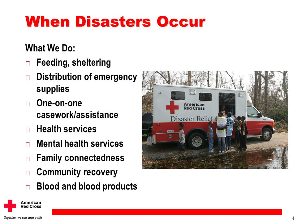 When Disasters Occur What We Do: Feeding, sheltering