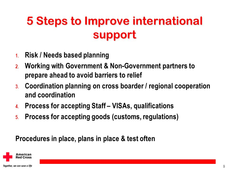 5 Steps to Improve international support