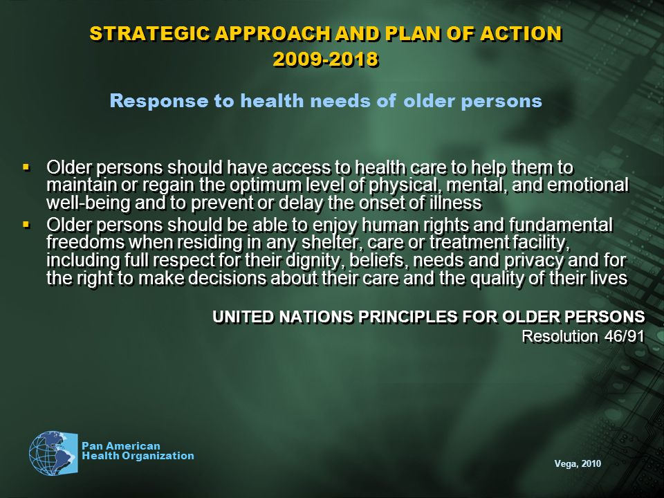 STRATEGIC APPROACH AND PLAN OF ACTION